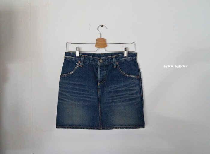 日本製 United Arrows Pink Label Basic denim short 丹寧牛仔短裙(beams)