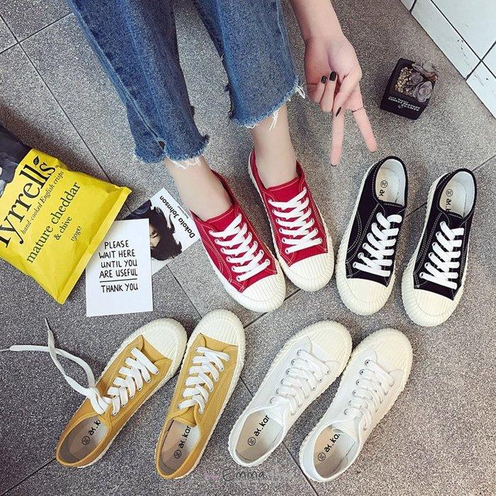 EmmaShop艾購物-國民便鞋/韓國休閒風格餅干帆布鞋/闆娘特別推薦款