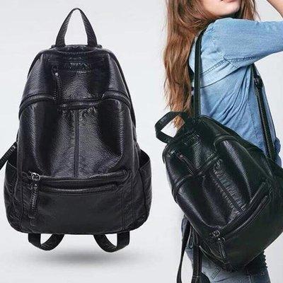 *UOU精品*新款水洗皮帶大容量大背包 旅行歐美雙肩包休閒書包【T013】