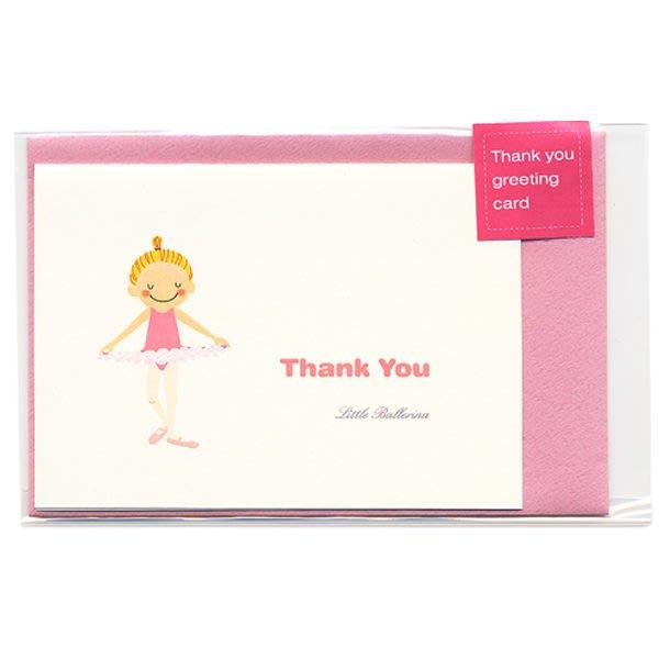 芭蕾小棧生日畢業表演禮物日本進口Little Ballerina可愛文具平面舞者感謝卡感恩卡Thank you