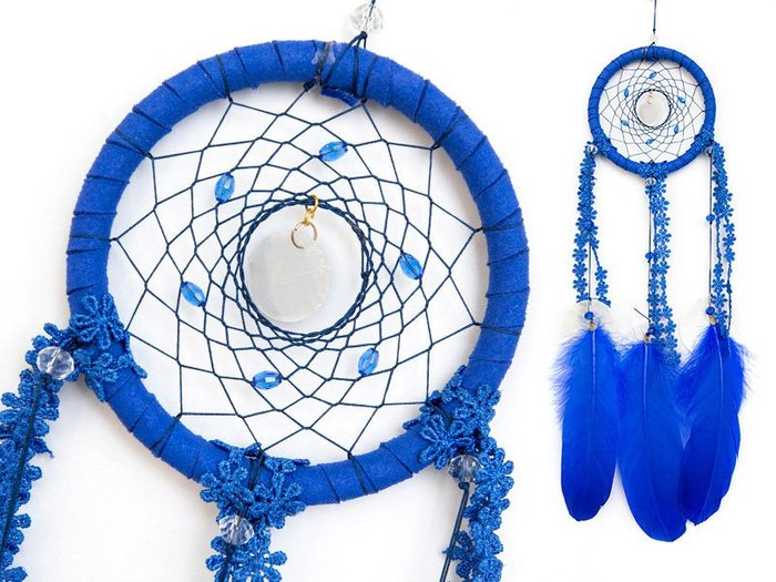 捕夢網 DIY材料包✿寶藍色✿『繼承者們款式』聖誕節禮物、情人節禮物、交換禮物、生日禮物、畢業禮物