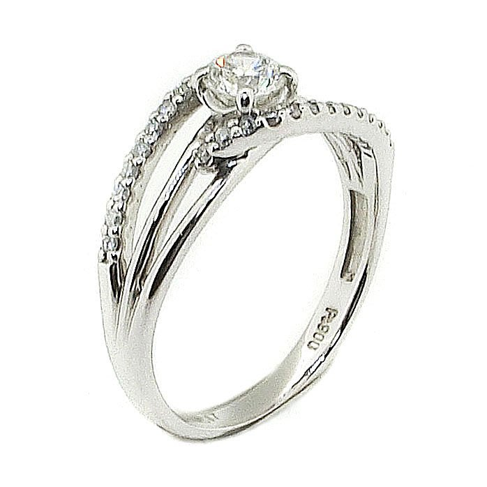 【JHT 金宏總珠寶/GIA鑽石專賣】0.307ct天然鑽石戒指/材質:PT900(JB41-B13)