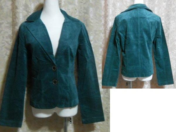 ~麗麗ㄉ大碼舖~大尺寸F 38吋 墨綠色V領前扣式長袖彈性西裝外套~