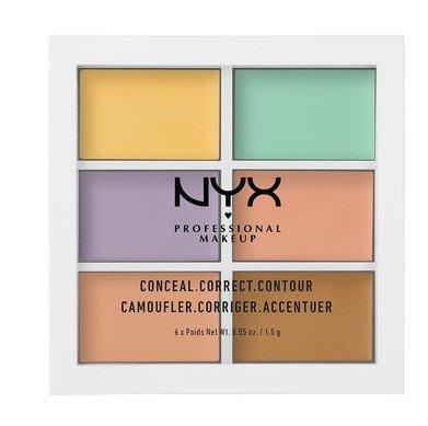 【愛來客 】美國直送 NYX COLOR CORRECTING PALETTE 6色調色 遮瑕盤 遮瑕修容盤