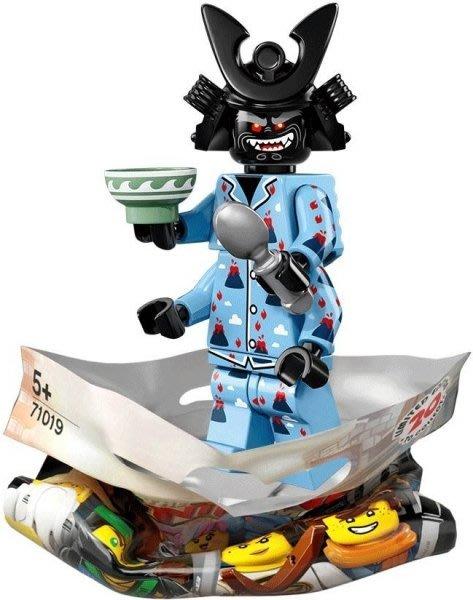 現貨【LEGO 樂高】積木 / 人偶包系列 忍者電影 71019 | #16 火山睡衣伽瑪當+碗+湯匙 Garmadon