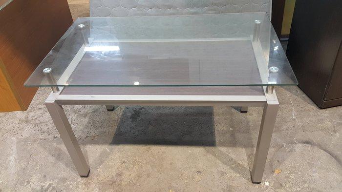 樂居二手家具 全新中古家具賣場*A0626CJJJ 玻璃餐桌*工作桌 會議桌 洽談桌 書桌 電腦桌 休閒桌 二手買賣
