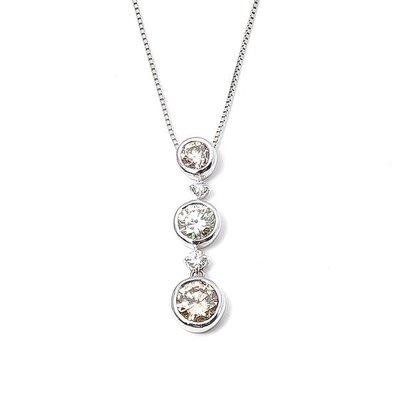 【JHT 金宏總珠寶/GIA鑽石專賣】1ct天然鑽墜/材質:18K(D000006)