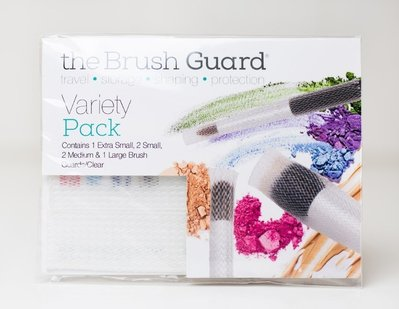 【愛來客】新款包裝美國The Brush Guard Large Variety Pack 白色款洗晾收納化妝刷具保護套