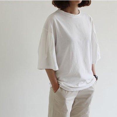 Girlmonster  正韓 象牙白 寬袖上衣  【A0247-1】