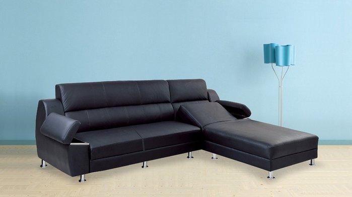 【DH】KH32-7吉利半牛皮沙發組椅,端莊高貴設計,台灣製,可訂色~