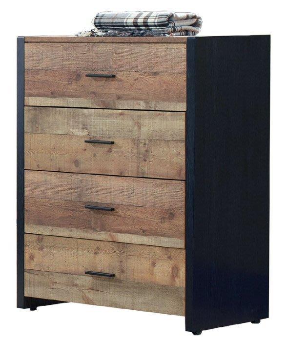 【DH】商品貨號N16-2商品名稱《韋恩》2.9尺厚切木紋四斗櫃(圖一)木心板.台灣製可訂做.主要地區免運費