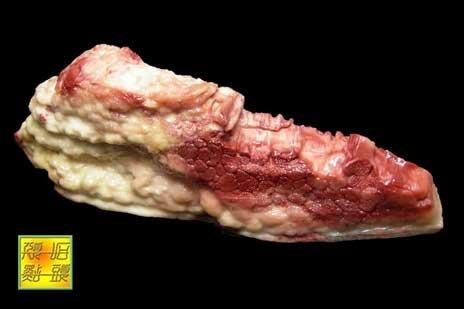 【頑石點頭】 壽山巧色芙蓉石 擬真五花肉擺件 4203005 极品