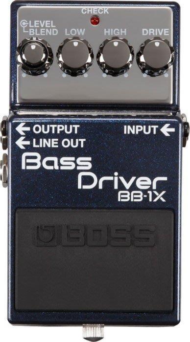 【六絃樂器】全新 Boss BB-1X Bass Driver  貝斯 破音效果器 前級放大 / 現貨特價