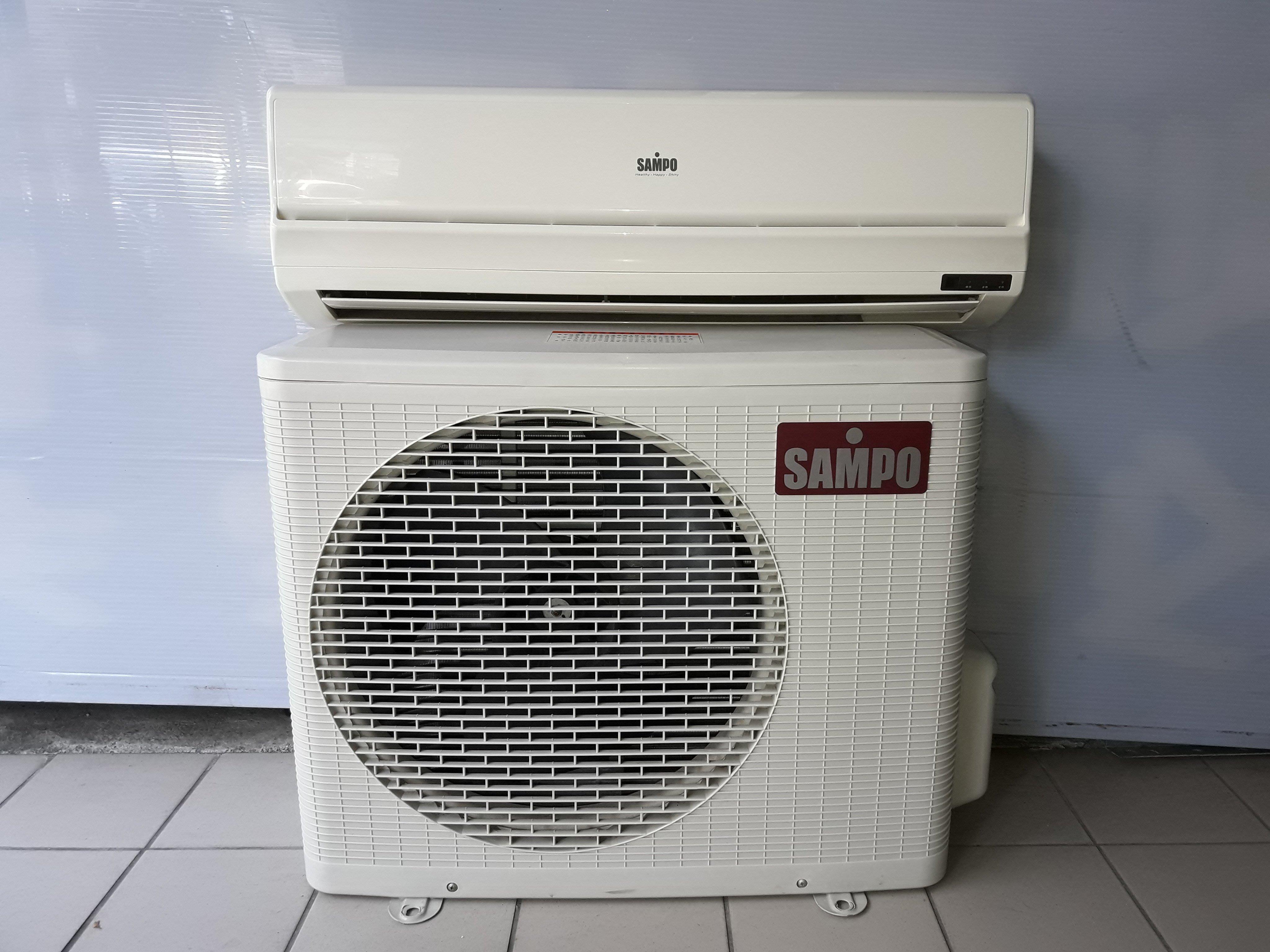 新竹國聖二手家電 SAMPO聲寶 一對一分離式冷氣機 2000kcal (適用3~4坪空間) 有維修保固 舊機回收
