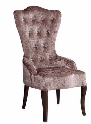 【DH】商品貨號N987-4名稱《查理》紫絨布迎賓椅 。優雅高貴經典。主要地區免運費