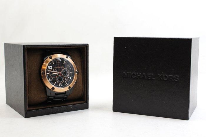 【高雄青蘋果】Michael Kors 手錶 MK8513 三眼 腕錶 MK 男錶 不鏽鋼 酷黑玫瑰金 #17686