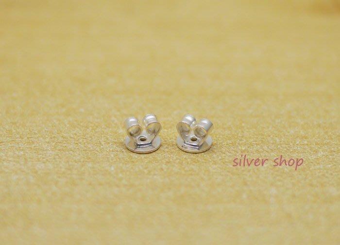 ╭☆ Silver shop ☆╯純銀 批發價 進口桃心型後扣 後束 耳塞 1對價 [ spp 005 ]