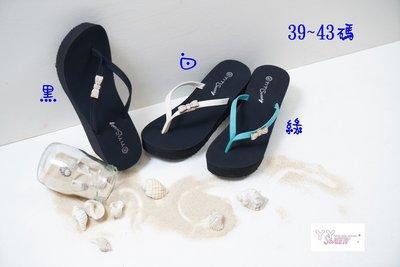 ☆(( 丫 丫 Sweety )) ☆。大尺碼女鞋。甜美小蝶結夾腳拖鞋39-43(D599)出清下標時以即時庫存為主