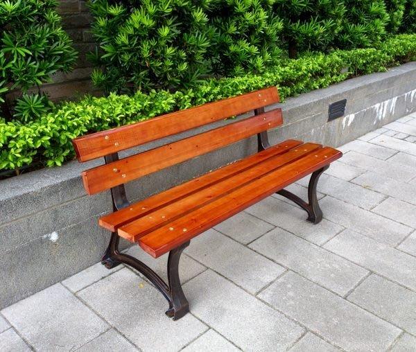 [兄弟牌戶外休閒傢俱]歐式重型5尺鑄鐵公園椅~可坐3 人板厚3cm,承成重度高~直購價免運學校公園!!
