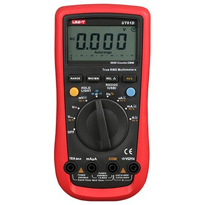 TECPEL 泰菱 》UNI-T 優利德 UT-61D 三用電表 頻率 電容 可接電腦 RS-232