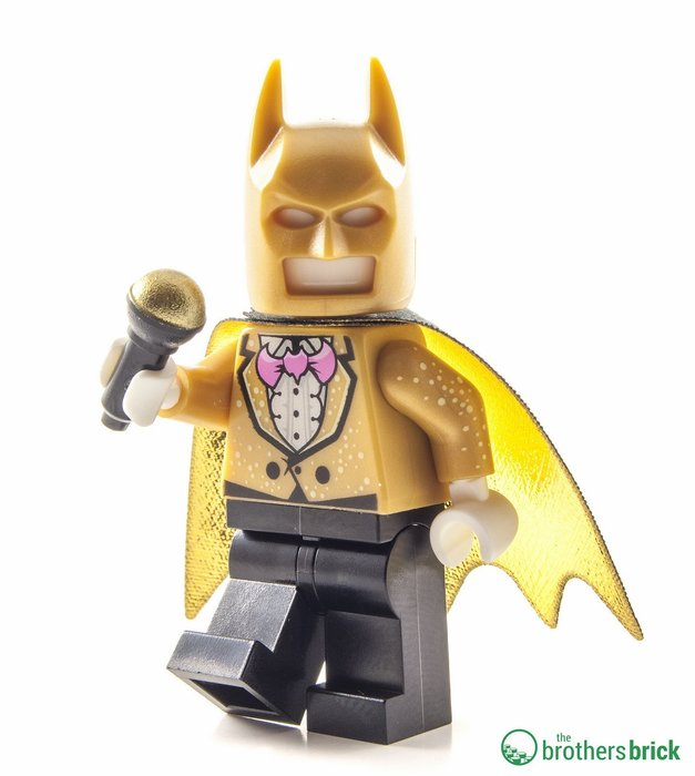 現貨【LEGO 樂高】全新正品 積木/ 蝙蝠俠電影系列: 蝙蝠洞 70909 | 單一人偶: 蝙蝠俠 宴會裝 + 麥克風