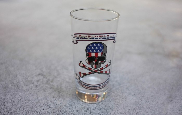 車庫服飾  現貨 MASTERMIND JAPAN GLASS USA FLAG 美國 國旗 玻璃杯
