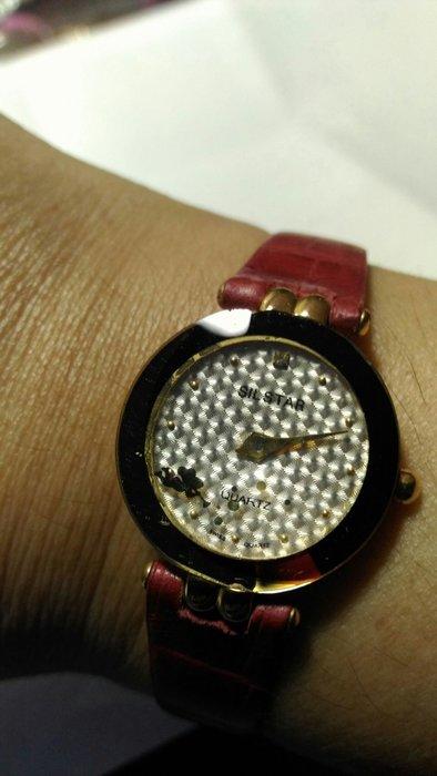 皮帶高級女性主義手錶(玻璃有些瑕疵)
