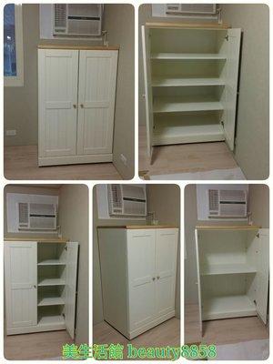 美生活館 全新 美式鄉村風格 全實木 雙色 雙門 收納櫃 置物櫃 小衣櫃 可依尺寸再報價 台灣生產 系統櫃 量身訂製
