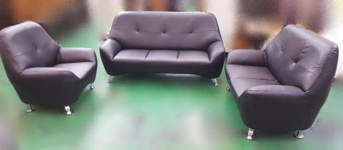 樂居二手家具 庫存家具拍賣 ZX0106全新小可愛123皮沙發*客廳桌椅/各式布沙發全新2手價 台北桃園新竹台中彰化嘉義