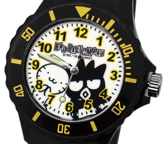 41+ 現貨免運費 三麗鷗 SANRIO 正版授權 酷企鵝 黑色 日本機芯 童趣卡通錶 兒童錶 運動錶 小日尼三