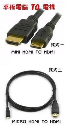 迷你MINI HDMI 微型 MICRO HDMI TO 轉 HDMI 平板 相機 轉HDMI