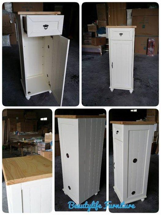 美生活館---客訂商品---鄉村全原木 單抽單門  雙色 鞋櫃/置物櫃/玄關櫃/ 收納櫃---可依尺寸與顏色再報價