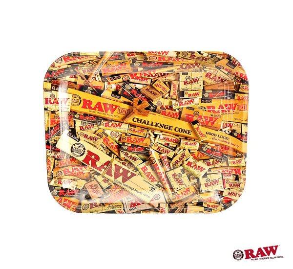 GOODFORIT / 西班牙RAW Mix Rolling Tray滿版品牌擬真商品主題大金屬盛盤