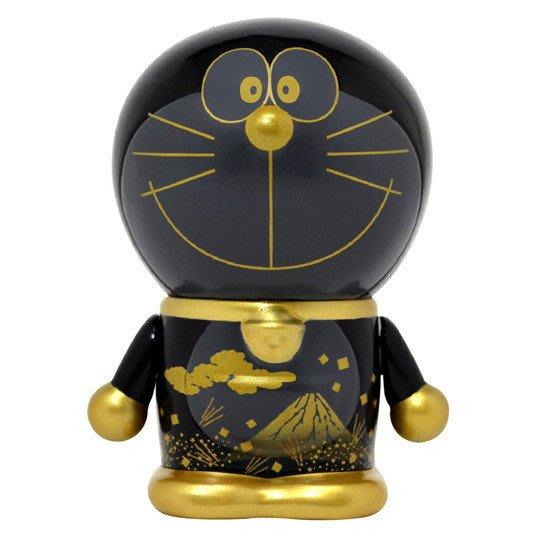 41+現貨免運費 哆啦A夢 公仔 和風系列 黑色 陶瓷工藝 360度無縫印刷 日本帶回  限定商品 小日尼三