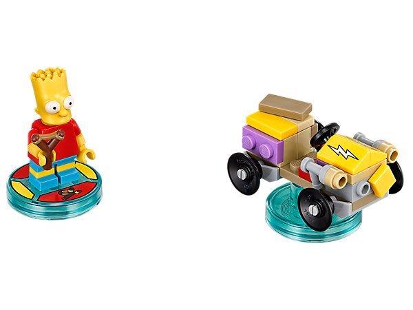 【LEGO 樂高 】100% 全新美國正品 益智玩具 積木/ 辛普森三合一次元系列 Bart 71211