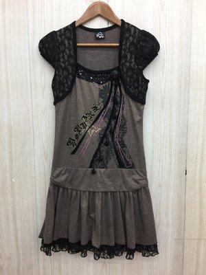 【愛莎&嵐】 POUPINE 法國娃娃 短袖洋裝  1070716