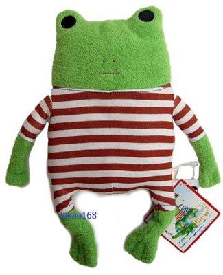 日本愛旅行的青蛙紅格紋M號玩偶組[新到貨   ]