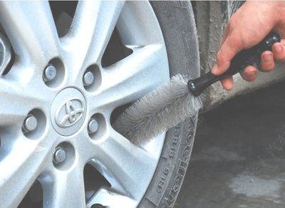 汽車 輪胎 鋁圈刷 輪胎刷 汽車輪框刷 輪圈刷 耐用 洗車輪胎專用 鋁圈刷 防滑握柄 機車【神來也】