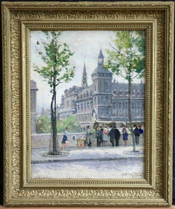 名家  JULES HERVE-MATHE 手繪   油畫 4萬3