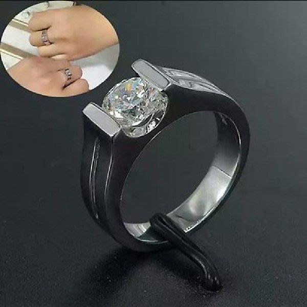 婚戒特賣鑽戒簡約男女款對戒鑽戒925純銀鍍鉑金指環 鑲嵌高碳鑽0.8克拉中性戒指 精工高碳仿真鑽石  FOREVER鑽寶