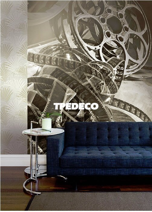 【大台北裝潢】美國Seabrook進口壁紙CT* 大型主題壁畫 REEL TO REEL 膠卷
