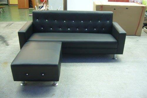 宏品二手傢俱 庫存家具4折 A619*全新L型皮沙發*鑲鑽水晶沙發椅/客廳桌椅/茶几/電視櫃