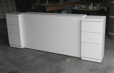 家具訂做  木心板 白色上掀床頭箱加床頭櫃.可訂做.可改色