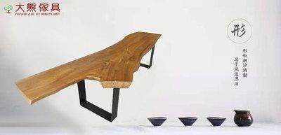 【大熊傢俱】 原木凳 長板凳 長凳 復古鐵藝椅 原木椅 餐椅 實木椅 換鞋椅 閱讀椅 戶外休閒椅 實木長凳 泡茶椅