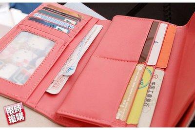 ☆藍藍的天☆【Y12d802】糖果色雙層多層次錢包皮夾中夾長夾短夾皮包錢包錢夾
