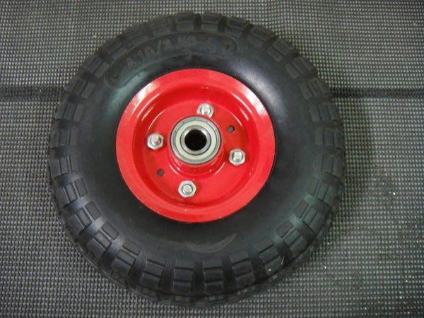 耐衝擊! 8吋 風輪 推車 手推車 四輪車 水泥車 輪胎 8   輪子 雙培林6203 工