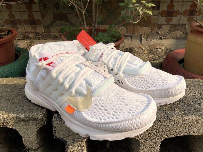 玉米潮流本舖 Nike Air Presto X Off-White  AA3830-100 全白 聯名復古慢跑鞋