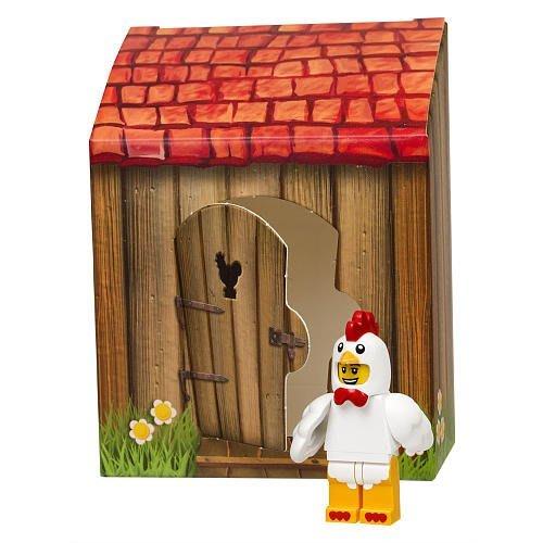 限量特價【LEGO 樂高】全新美國正品 積木/ 復活節限定Easter 動物人偶 新版公雞人 含房子 71000