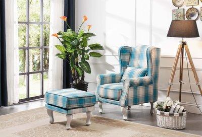【大熊傢俱】A38 玫瑰系列 休閒椅 腳椅 高背椅 新古典  織布椅
