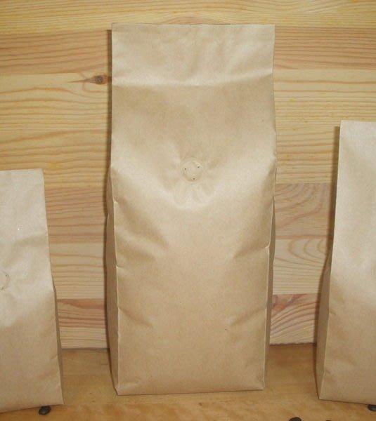 新材料_NB001_一公斤用_平光牛皮紙_空白咖啡豆包裝袋__含單向排氣閥 (100入)Candyman
